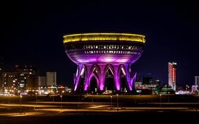 "Picture lights, bowl, backlight, architecture, Kazan, Tatarstan, The Registrar, The centre of the family ""Kazan"""