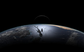 Picture the moon, the atmosphere, Planet