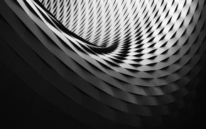 Picture pattern, black and white, Switzerland, Basel, b/w, building, shadows, curve, structure, Art, spiral, circle