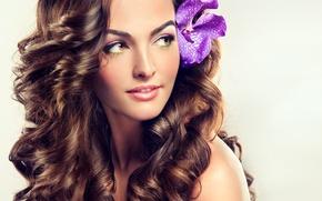 Picture girl, portrait, makeup, brown hair, long hair, zetoc