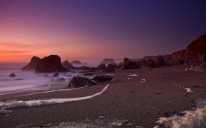 Wallpaper california, beach, sand, rocks, The ocean, ocean, bodega bay, Foam Of The Sea, CA