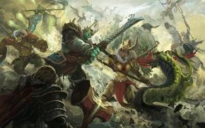 Wallpaper battle, dota, art, dota 2, Elder Titan, Venomancer, Legion Commander, moba, Omniknight, Wraith King, Skywrath ...