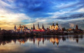 Picture reflection, Moscow, the Kremlin