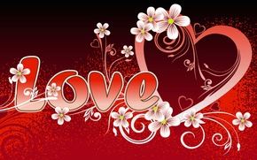 Wallpaper love, heart, Valentine's day