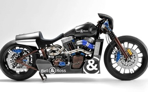 Picture motorcycle, Harley-Davidson, bell&ross, motocycle