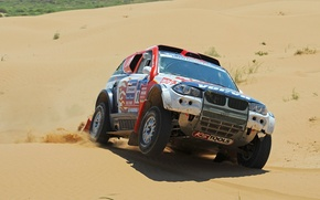 Picture Sand, BMW, Sport, Race, BMW, Lights, Rally, Dakar, The front