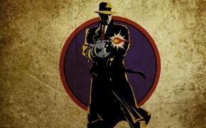 Wallpaper hat, machine, cloak, Dick Tracy, Dick Tracy