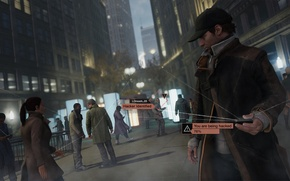 Picture phone, games, ubisoft, Watch Dogs, Aiden Pearce