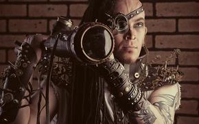 Picture weapon, cosplay, costume, retro futuristic