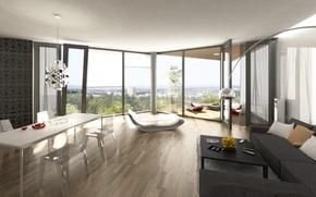 Picture design, the city, style, interior, penthouse, terrace, city apartment, living space, interier, Czech terraces
