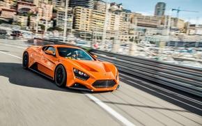 Wallpaper ST1, Zenvo, Monaco, orange, Monaco, Monte Carlo, hypercar, Monte Carlo, hypercar