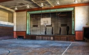 Wallpaper sport, hall, background