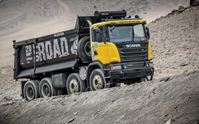 Picture truck, Scania, Scania, 2013, dump truck, machinery, 8×4, G440