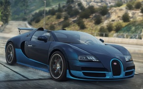 Picture Bugatti, Veyron, 2012, Need for Speed, nfs, Grand Sport, Most Wanted, NSF, NFSMW