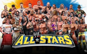 Picture WWE, the full composition, wrestlers of all time, all stars