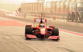 Picture Photo, Formula-1, Ferrari F60, 2009, Felipe Massa, The car, Formula 1, Boxes, Circuit, The pit …