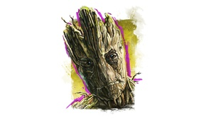Picture figure, white background, comics, marvel, marvel, Guardian of the galaxy, guardians of the galaxy, Groot, …