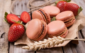 Picture berries, cookies, strawberry, rope, spike, macaroon