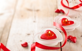 Picture heart, candles, love, heart, romantic, Valentine's Day
