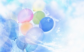 Picture the sky, clouds, dreams, balloons