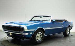 Picture car, blue, Chevrolet, Camaro, Chevrolet, muscle car, blue, Convertible, 327