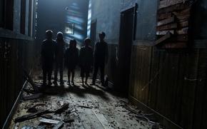 Picture children, corridor, horror, horror, sinister, Sinister 2