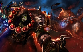 Picture warcraft, Thrall, Heroes of the Storm, Brightwing, Falstad
