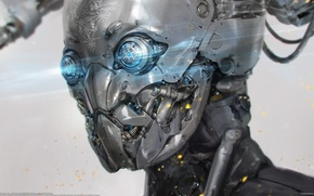 Picture robot, cyborg, Long Ouyang