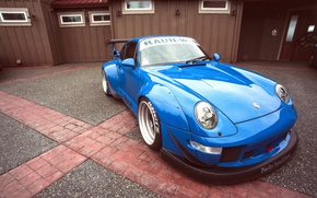 Picture blue, 911, Porsche, Porsche, blue, race, racing