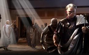 Picture sword, games, man, rome, total war, Caesar
