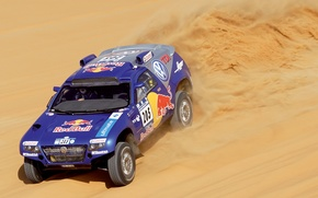Picture Sand, Sport, Volkswagen, Desert, Machine, Race, Heat, Red Bull, Touareg, Rally, Dakar, Rally, 205