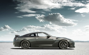 Picture sand, clouds, tuning, Nissan, GT-R, Nissan