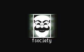 Picture Mr. Robot, Mr.Robot, Fsociety, Mr Robot, Fuck Society