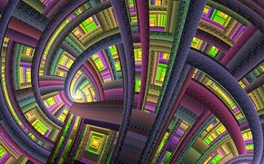 Picture space, pattern, color, structure, the tunnel, the volume