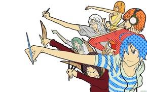 Picture Bakuman, Akito Takagi, Niidzuma Agee, Takuro Nakai, Yuriko Aoki, Mashiro Moritaka, Fukuda Shinta