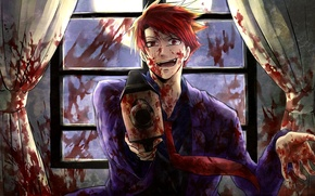 Picture gun, blood, spot, umineko no naku koro ni, when the seagulls cry, battler ushiromiya