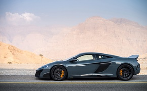 Wallpaper McLaren 675LT, mountains, supercar, sports car, road