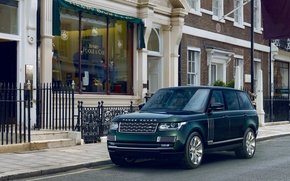 Picture background, green, Land Rover, Range Rover, the front, Land Rover, Range Rover, Holland & Holland