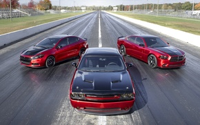 Picture Dodge, Red, Charger RT, Challenger RT, Dart GT