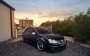Picture black, golf, stance, mk5, Volkswagtn, fronte