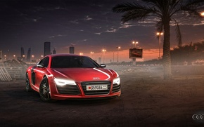 Picture Audi, Red, Sunset, Wallpaper, Supercar, Bahrain