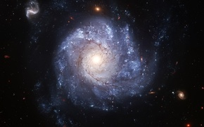 Picture Hubble, galaxy, telescope, spiral, full face