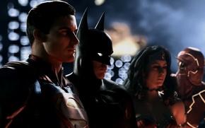 Picture Wonder Woman, Batman, Superman, Flash, Infinite Crisis