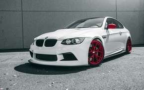 Picture car, auto, white, BMW, the front, Boomer, bmw m3, rechange