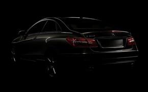 Picture machine, widescreen, cars, Mercedes, cars, auto walls, black style, mercedes benz e class coupe