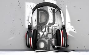 Picture music, headphones, DJ
