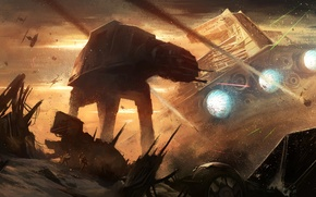 Picture war, star wars, art, spaceship, Section, AT-AT Walker