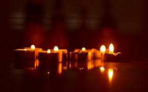 Picture holiday, the evening, candles