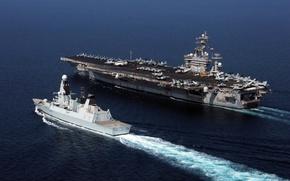 Picture weapons, ships, USS Dwight D. Eisenhower, HMS Diamond