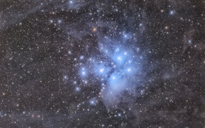 Picture The Pleiades, Star cluster, M-45